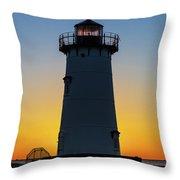 Edgartown Harbor Light Sunrise IIi Throw Pillow