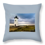 Edgartown Lighthouse Cape Cod Throw Pillow
