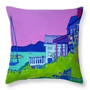 Edgartown Porches Throw Pillow