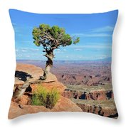 Edge Of The Cliff Throw Pillow