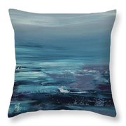 Edge Of The Deep Blue Sea Throw Pillow