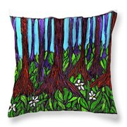 Edge Of The Swamp Throw Pillow