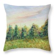 Edge Of Trees Throw Pillow