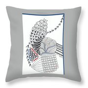 Edged In Blue Throw Pillow