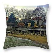 Edgemere Crt Docks Throw Pillow