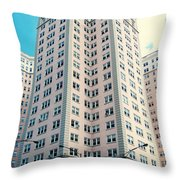 Edgewater Beach Hotel Throw Pillow
