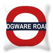Edgware Road Throw Pillow
