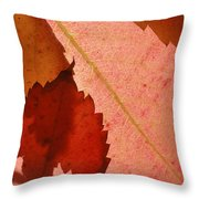 Edgy Leaves Throw Pillow