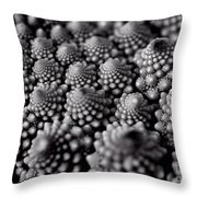Edible Pearls Black And White Throw Pillow