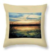 Edinboro Lake Nocturne No.3 Throw Pillow