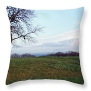 Edinburgh - Boots On The Tree Throw Pillow