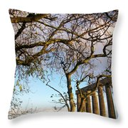 Edinburgh - Caption Hill Trees Throw Pillow