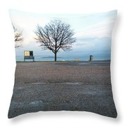 Edinburgh - Two Trees At Caption Hill Throw Pillow