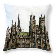 Edinburgh Architecture 3 Throw Pillow