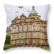 Edinburgh Bank Of Scotland Building Throw Pillow