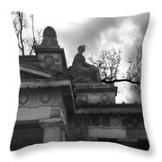 Edinburgh Black And White Throw Pillow