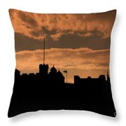 Edinburgh Castle Silhouette  Throw Pillow