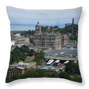 Edinburgh Castle View #3 Throw Pillow