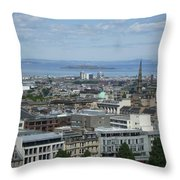 Edinburgh Castle View #5 Throw Pillow