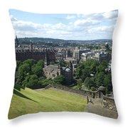 Edinburgh Castle View #6 Throw Pillow