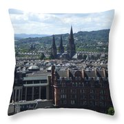 Edinburgh Castle View #8 Throw Pillow