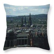 Edinburgh Castle View #9 Throw Pillow