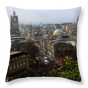 Edinburgh Princess Street Throw Pillow