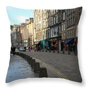Edinburgh Royal Mile Street Throw Pillow