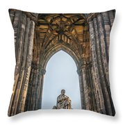 Edinburgh Sir Walter Scott Monument Throw Pillow