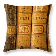 Edison Ledgers Throw Pillow