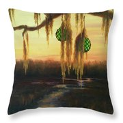Edisto Island Glass Floats Throw Pillow