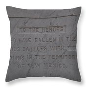 Edited Deleted History Throw Pillow
