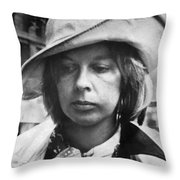 Edith Irving Begins Jail Throw Pillow
