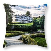 Edith Wharton Mansion Throw Pillow