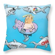 Editorial Cartoonist Throw Pillow