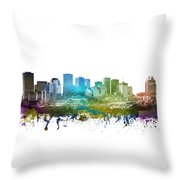 Edmonton Cityscape 01 Throw Pillow