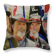 Edmund Ruffin Fire Eaters Color Guard 2016 Throw Pillow