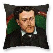 Edouard Blau Throw Pillow