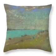 Edouard Vuillard Cuiseaux 1868-1940 La Baule The Beach. Throw Pillow