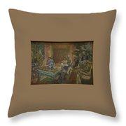 Edouard Vuillard  Sewing Party At Loctudy Throw Pillow