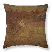 Edouard Vuillard - Walking In The Vineyard Throw Pillow