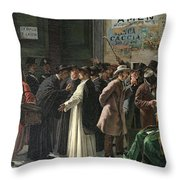 Eduardo Matania, Shuttered Bank Throw Pillow