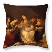 Education Of The Virgin 1642 Throw Pillow