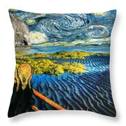 Edvard Meets Vincent Posters Throw Pillow