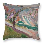 Edvard Munch , Landscape, Kragero Throw Pillow