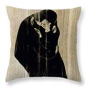 Edvard Munch: The Kiss Throw Pillow