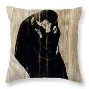 Edvard Munch: The Kiss Throw Pillow
