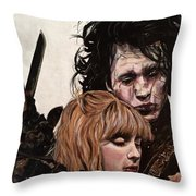 Edward And Kim Throw Pillow