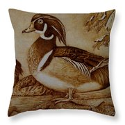 Edward And Mae Throw Pillow