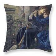 Edward Burne-jones, Love Among The Ruins, 1894 Throw Pillow